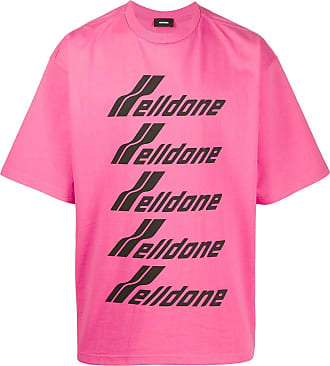 We11done oversized logo-print T-shirt - PINK