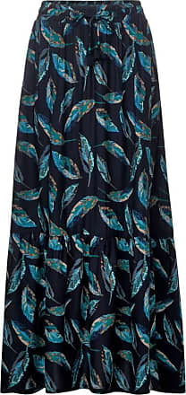 Cecil Maxirock mit Blättermuster - deep blue