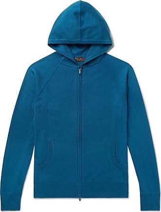 Loro Piana Portland Cashmere And Silk-blend Zip-up Hoodie - Blue