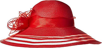 68c8f43559541 San Diego Hat Company DRS1011 Derby Dress Hat with Organza Bow (Red) Traditional  Hats
