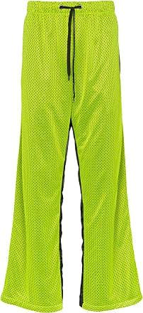 150c39fd0c2 Duo mesh popper button nylon sweat pants - Green