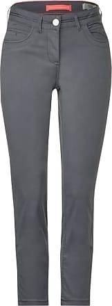 Cecil Baumwoll-Hose im Slim Fit - graphite light grey