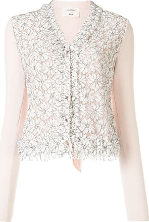 Onefifteen long-sleeved lace cardigan - PINK