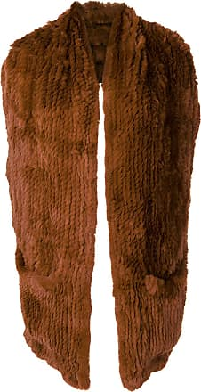 Yves Salomon rabbit fur backless gilet - Brown