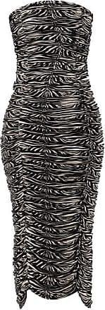 Norma Kamali Ruched Zebra-print Jersey Dress - Womens - Animal