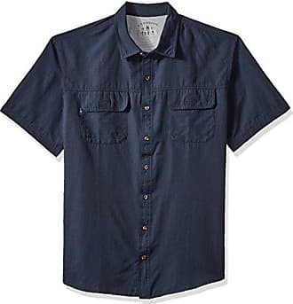 G.H. Bass & Co. Mens Big and Tall Explorer Short Sleeve Button Down Fishing Shirt, Legacy Rich Navy Blazer S2018 1, 4X-Large