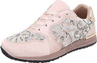 4fe78ad5936ad3 Ital-Design Sneakers Low Damen-Schuhe Sneakers Low Sneakers Schnürsenkel  Freizeitschuhe Pink