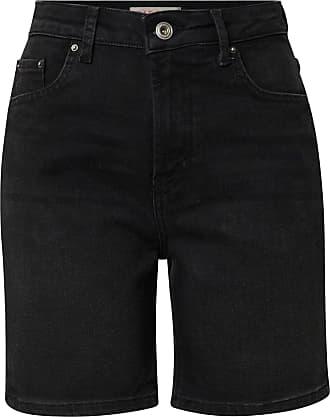 Pieces Womens Pcleah Mom Hw Shorts Blc638-ba/cp Denim, Black, X-Large