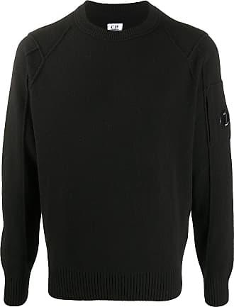 C.P. Company Suéter com aplicação e acabamento canelado - Preto