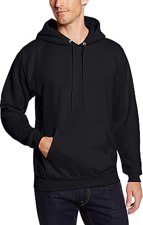 1 Deep Red Hanes Mens EcoSmart Hooded Sweatshirt XL 1 Black