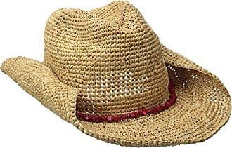 1e9916827d5d3 San Diego Hat Company Womens Crochet Raffia Cowboy Turquoise Hat with  Beaded Trim