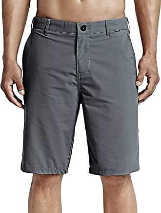 Hurley Mens Dri-Fit Chino Shorts, Cool Grey, 40