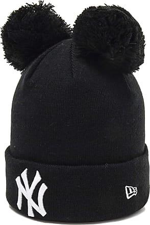 New Era Womens NY Yankees Double Bobble Knit (Black/White)