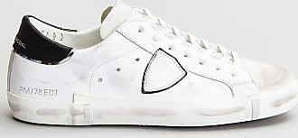 Reposi Calzature Philippe Model - Sneakers in pelle bianca nera