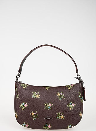 Coach Floral Printed Leather Hobo Bag size Unica