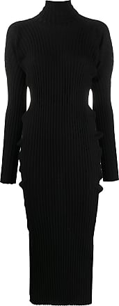 Bottega Veneta Vestido de tricô canelado - Preto
