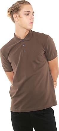c51054121ec8d Ellus Camisa Polo Ellus Reta Classic Lisa Marrom