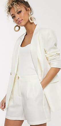 Pieces Zweireihiger Blazer in Creme-Weiß