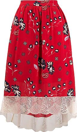Zadig & Voltaire Joslin Daisy print skirt - Red