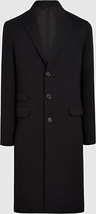 Neil Barrett Single Breasted Raw Cut Long Wool Travel Coat