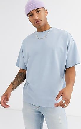 Asos Blaues Oversize-T-Shirt aus Bio-Pikeematerial mit Rundhalsausschnitt