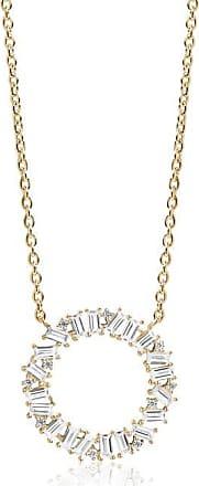 Sif Jakobs Jewellery Halskette Antella Circolo Grande - 18K vergoldet mit weißen Zirkonia