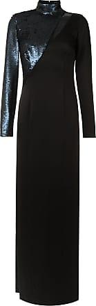 Tufi Duek Vestido longo com recortes - Preto