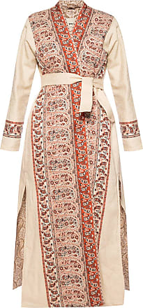 Etro Patterned Coat With Vents Womens Multicolour
