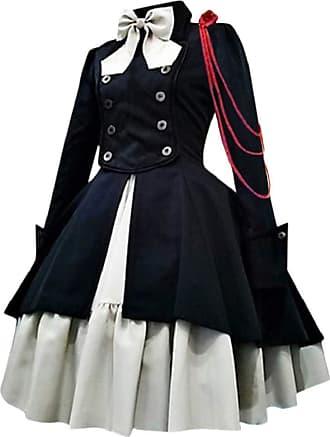 Yvelands Gothic Dress Women Ladies Vintage Bow Knor Long Sleeve Lace Medieval Renaissance Costume Dresses Lotita Cosplay Princess Dress Ladies Halloween Party