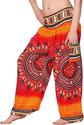 HAREMSHOSE Ballonhose Aladinhose Pumphose Pluderhose orange schwarz türkis rot