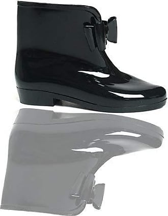 Ikrush Betty Rubber Ankle Boots Black UK 7