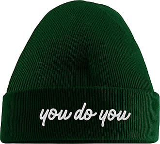 HippoWarehouse You do You Embroidered Beanie Hat Bottle Green