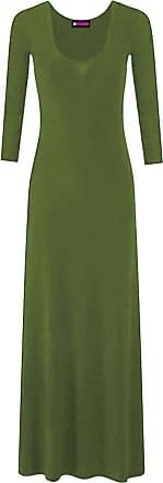 21Fashion Womens Plain Flared Stretchy Maxi Dress Ladies Long Sleeve Long Jersey Dress KHAKI UK 24-26 = US 20-22