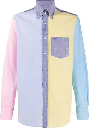 Paul & Shark Camisa slim color block - Azul