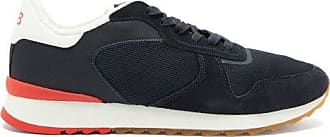 Orlebar Brown Oleta Suede-trimmed Canvas Trainers - Mens - Navy Multi