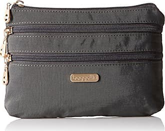 Baggallini SZC136G Shanghai 3 Zip Case - Gold Hardware, Charcoal, One Size