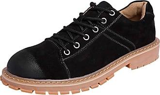 Insun Mens Padded Collar Plain Toe Oxford Boot Low-top Black UK 4.5