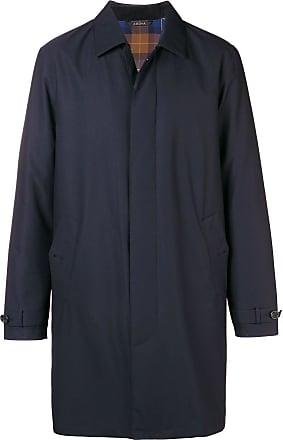 Ermenegildo Zegna classic single breasted coat - Blue