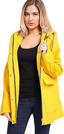Noroze Women Waterproof Raincoat Jacket (8, Lemon)