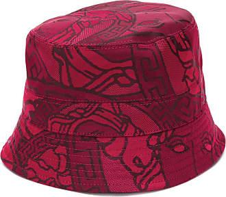 Versace Chapéu com Medusa e estampa Greca - Vermelho