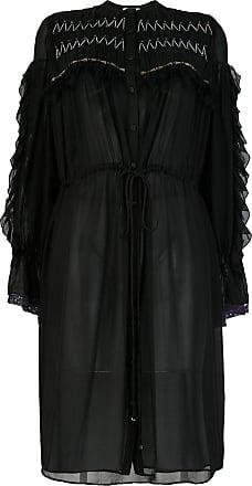 Koché flared shirt dress - Preto
