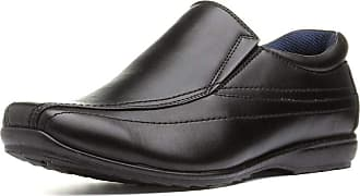 US Brass Mens Elasticated Black Slip On Shoe - Size 10 UK - Black