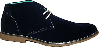 Northwest Territory Mens Hayden LACE UP Shoes Faux Suede Dress Smart/Casual Work Boot Navy 10