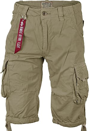 Alpha Industries Jet Shorts (Sale) light oliv, Größe 31