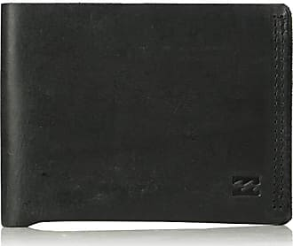 Billabong Mens All Day Leather Wallet Black One Size