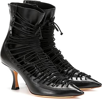 Y / Project Lace-up leather ankle boots