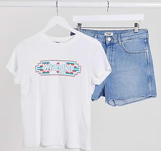 Wrangler T-shirt bianca con grafica-Bianco