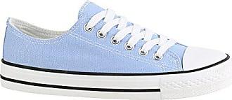 4908d605db40c9 Stiefelparadies Damen Schuhe Sneakers Sportschuhe Freizeit Stoffschuhe Gr.  36-41 156910 Hellblau Weiss Agueda