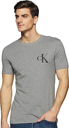 Calvin Klein Jeans Mens INSTIT Back POP Logo Slim TEE T-Shirt, Grey (Mid Grey Heather P2f), X-Large (Size:XL)