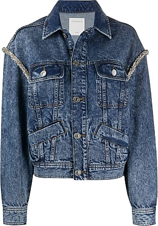 Sandro bead trim denim jacket - Blue
